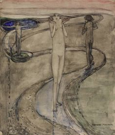 """Tis a long path which wanders to desire"" c.1909-15 Frances Macdonald Hunterian Art Gallery Mackintosh collections"