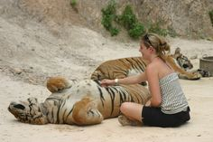 woman with tiger - Google Search