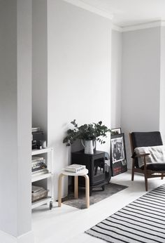 house refurb - renovation project - living room makeover before and after - painted white floors - light grey walls