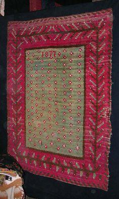 short history of rya rugs, Finnish Rya Rug, 1877