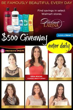 $500 #DivinaLatina #Giveaway is waiting for you to WIN IT!!! ENTER daily http://freebies4mom.com/divinalatina #ad (ends Dec. 28)