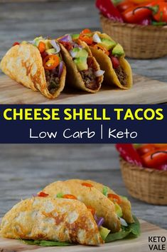 Keto Cheese Shell Tacos with Ground Beef Low Carb Recipe