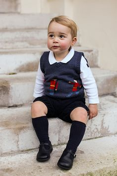 13 DECEMBER 2014 Prince George of Cambridge takes centre stage in three brand new official photos released by the British royal family ahead of Christmas. The adorable 17-month-old, who was last officially photographed taking some of his first steps around the time of his first birthday in July, now stars in a set of pictures looking every inch the dapper toddler.
