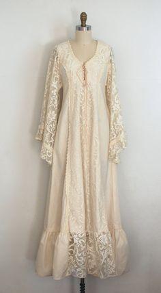 Boho Lace Gunne Sax Dress/ 70s Dress/ 1970s by AnastasiaSwift