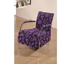 Butaca fija con estampado floral. Butaca tapizada en tela de alta calidad