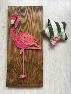 Flamingo String Art/Flamingo Wall Art/String Art Animal/String