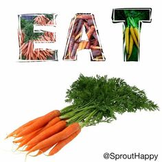 #Carrots are an amazing source of vitamin A (which acts as an #antioxidant & is important for vision) #Vegan #nutrition #healthy #carrot