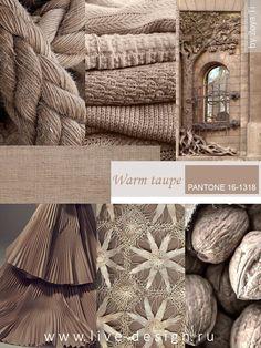 Модный оттенок Pantone сезона осень-зима 2016 Warm Taupe Теплый Серо-Коричневый