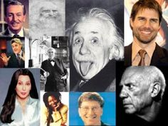 A few famous people with dyslexia: Disney, Einstein, Picasso, Cher, Jay Leno, Tom Cruise, Bill Gates, Whoopi Goldberg  via learningally.org    http://sunglowliteracyconsulting.com