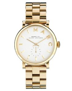 Marc By Marc Jacobs | Marc By Marc Jacobs Baker Gold Watch MBM3243 at ASOS