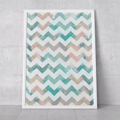 poster brushed chevron