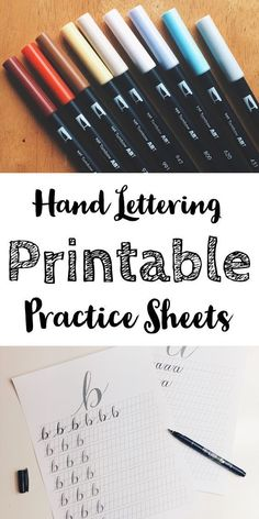 Hand lettering and modern calligraphy guide to cover all the basics. How to get started with hand lettering and improve your calligraphy. hand lettering drawing Hand Lettering - Getting Started With Modern Calligraphy & Lettering Hand Lettering For Beginners, Hand Lettering Practice, Hand Lettering Alphabet, Hand Lettering Tutorial, Caligraphy Practice Sheets, Graffiti Alphabet, How To Hand Lettering, Learn To Write Calligraphy, How To Caligraphy
