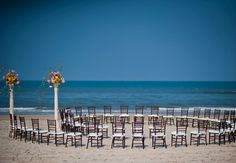 """Ceremony seating """"in the round"""" - Photo by: Brooke Mayo Photography/The Knot"""