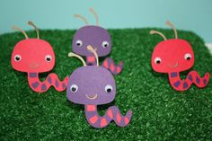 Large Garden Worm Cuts - Cardmaking and Scrapbooking Embellishments - Set of 6. $3.25, via Etsy.