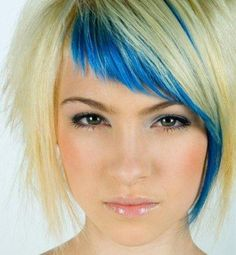 Love the blue fringe and cut.