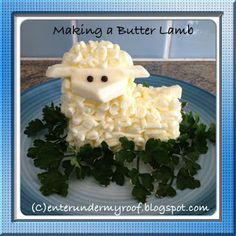 Create a butter lamb for Easter. Includes recipe to make a Paschal Lamb. Also great for Saint Agnes Feast Day!