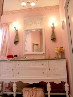 dreamy shabby chic bathroom...girls bathroom?