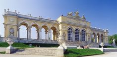 The Gloriette Pavilion in the grounds of the Schonbrunn Palace
