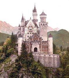 Neuschwanstein Castle - Inspiration for the Disney Palace by Nishi Banka