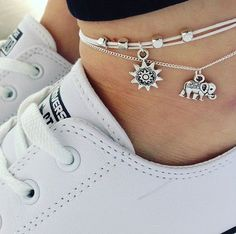 Anklets Jewelry Hot Men Silver Charm Elephant Pendant Chain Anklet Foot Jewelry For Unisex Alloy China 21 4 * - Anklet Jewelry, Anklet Bracelet, Beach Jewelry, Chain Jewelry, Jewelry Making, Foot Bracelet, Gypsy Jewelry, Kids Jewelry, Jewelry Findings