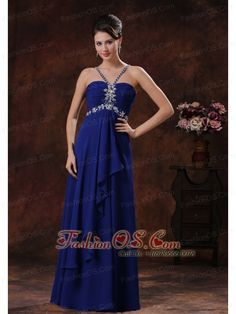 Beaded Decorate Royal Blue V-neck Prom Celebrity Dress In Grand Canyon Arizona-  http://www.fashionos.com  http://www.facebook.com/fashionos.us  This dress is elegant and noble! This sexy and lightweight prom dress is perfect for dancing the night away. It features a V neckline on a gathered bodice, supported by two spaghetti straps that almost cross in the back. A hidden zipper secures the bodice in place with the support of the straps.