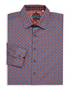 ROBERT GRAHAM FALKIRK WHEEL CLASSIC-FIT SPORTSHIRT. #robertgraham #cloth #