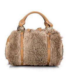 9722de07044a Fur Bag, Boston Bag, Yellow Top, Gucci Handbags, Rabbit Fur, Baggers