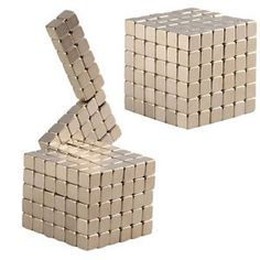 4mm 216pcs Magnetic Bucky Block Puzzle Silver