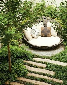 Could see similar in the secluded seating spot near the pond?