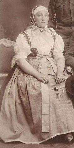 Anna bialon  Woman in Cieszynian folk costume 1917