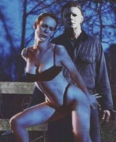 Two great movies that you never would of thought go great together :) Jamie Lee Curtis is being inappropriate with Michael Myers Serge Gainsbourg, Michael Myers, Michael Jackson, Janet Leigh, Jamie Lee Curtis, Old Movie Stars, Amanda Bynes, Actrices Hollywood, Star Wars