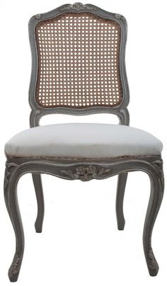 Idea for my French chairs... French Made Louis XV Style Cane Back Chairs   Fireside Antiques