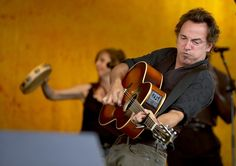 Bruce Springsteen performs during the New Orleans Jazz and Heritage Festival in New Orleans on April 30th, 2006.