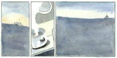 Das Schiff - Isla volante Blog, Painting, Art, Racing Wheel, Islands, Art Background, Painting Art, Kunst, Paintings