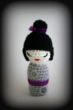 Kokeshi Doll Free Amigurumi Pattern here: http://amicrafter.wordpress.com/2012/04/02/kokeshi-doll-free-pattern/
