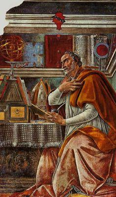 The Saint Augustine painting was Botticelli's first major fresco. SAN AGUSTÍN fue transformado por la MISERICORDIA DIVINA