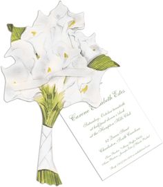 Personalized Calla Lilly Bouquet Die-cut Invitations, Floral/Flower Party Invitations, Create Beautiful Personalized Calla Lilly Bouquet Die-cut Invitations at Affordable Prices Plum Wedding Invitations, Sweet 16 Invitations, Party Invitations, 16th Birthday Card, Birthday Cards, Calla Lillies Bouquet, Wedding Sweepstakes, Calla Lily Wedding, Floral Flowers