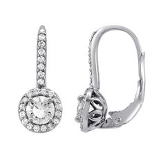 Round Diamond Shared Prong Earings