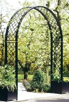 Iron Garden Arch Wrought Arbor Metal Arbors And Trellises Steel Arches