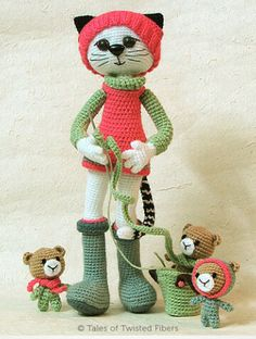 ao with <3 / crocheting cat