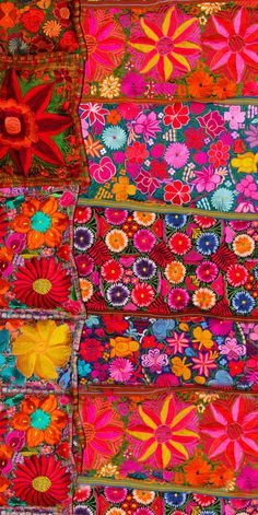 Brilliant Mexican embroidered textile.
