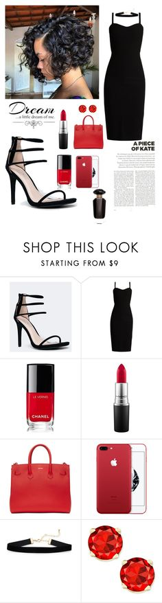 """""""Symph"""" by iamvalquiria ❤ liked on Polyvore featuring Anne Michelle, MaxMara, Chanel, MAC Cosmetics, Love Quotes Scarves, Topshop, Off-White and Victoria's Secret"""
