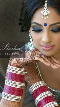 #makeup #choora desi bridal indian bride groom wedding photography dulha dulhan www.amouraffairs.in