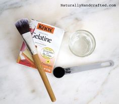 Make your own Charcoal Blackhead Mask using gelatin and activated charcoal.
