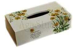 Las servilletas de mi alacena (pág. 118) | Aprender manualidades es facilisimo.com Tissue Box Covers, Tissue Boxes, Tissue Box Crafts, Arte Country, Decoupage Box, Diy And Crafts, Shabby Chic, Shapes, Vintage