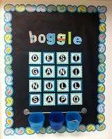 Boggle Bulletin Board with student worksheet