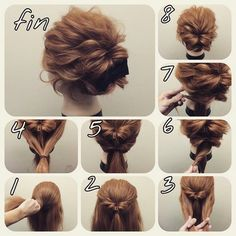 Skip to content 54 cute easy updos for long hair when in a hurry Classy to Cute: Easy hairstyles for long hair for 2017 The light chignon Sweet updos for long hair Easy Bun Hairstyles, Pretty Hairstyles, Amazing Hairstyles, Step Hairstyle, Hairstyles 2018, Makeup Hairstyle, Evening Hairstyles, Indian Hairstyles, Braid Hairstyles
