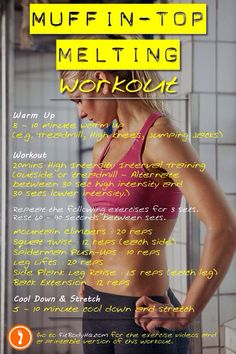 Muffin-top melting workout