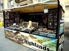 Two Skies' market stall, based on Edinburgh's Royal Mile.