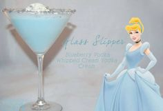 Cinderella's classic blue gown captured into this creamy light, blueberry based drink.